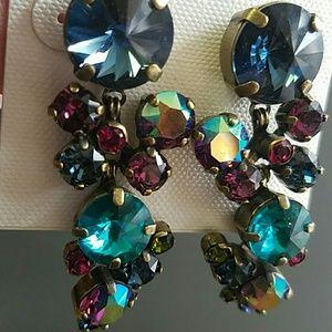 Sorrelli Earrings Super Multi Blues Purples Lime